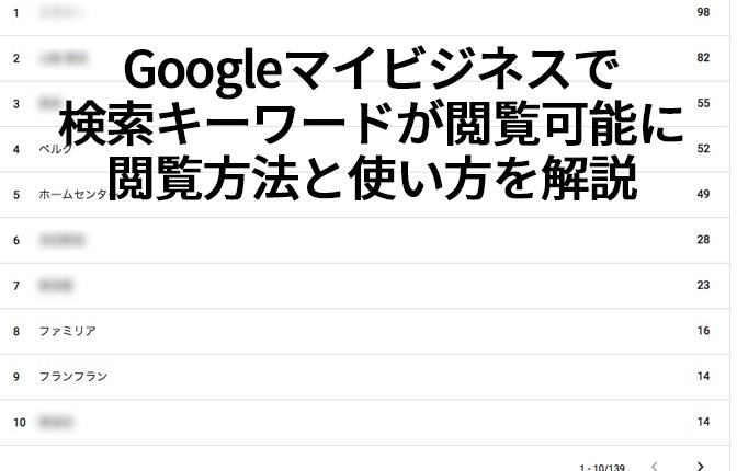 Googleマイビジネスで検索キーワードが閲覧可能に閲覧方法と使い方を解説