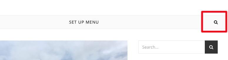 チェックを入れるとメインメニューに検索アイコンを表示します。