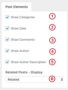 「Blog Page」は記事一覧ページ、「Single Page」は個別記事ページの設定になります